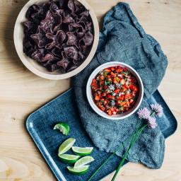 Roasted Poblano Strawberry Salsa