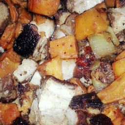 Roasted Pork Belly with Carmelized Vegetables