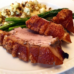 Roasted Pork Belly with Crackling