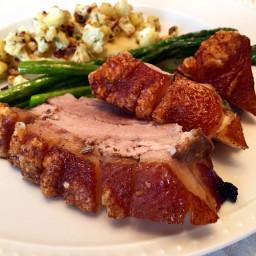 Roasted Pork Belly with Crackling