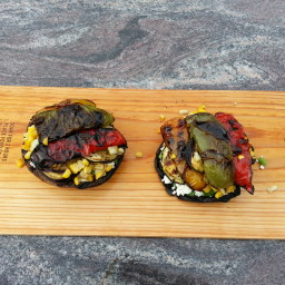 Roasted Portobello Stuffed with Roasted Vegetables