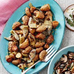 Roasted Potatoes and Artichokes