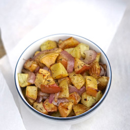 Roasted Potatoes & Apple with Caramelized Onion & Thyme