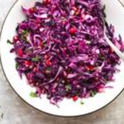 Roasted Red Cabbage Salad With Pomegranate