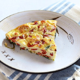 Roasted Red Pepper and Feta Frittata