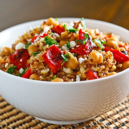 Roasted Red Pepper and Feta Quinoa Salad