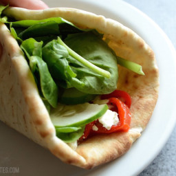 Roasted Red Pepper Hummus Wraps