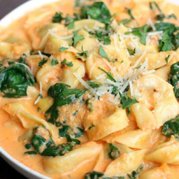 Roasted Red Pepper Tortellini Pasta