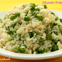 Roasted rice with green onion
