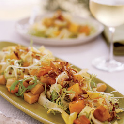 Roasted Root-Vegetable Salad with Persimmons