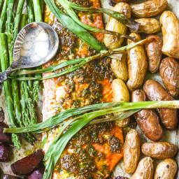 Roasted Salmon Sheet-Pan Dinner