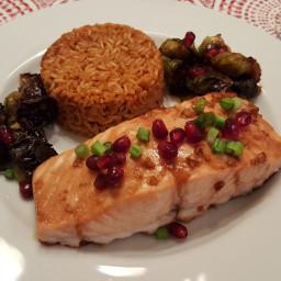 Roasted Salmon with Pomegranate Glaze