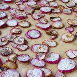 Roasted Salt and Pepper Radish Chips