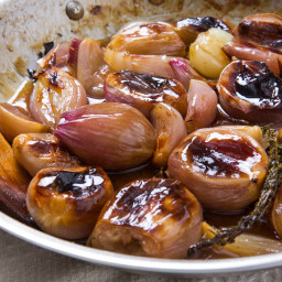 Roasted Shallots With Buttery Sweet-Tart Glaze Recipe