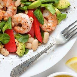 Roasted Shrimp, Tomato and White Bean Salad