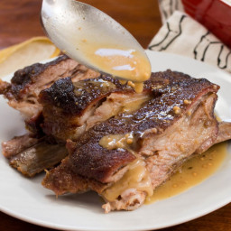 Roasted Spiced Lamb Ribs With Whole Grain Mustard Sauce Recipe