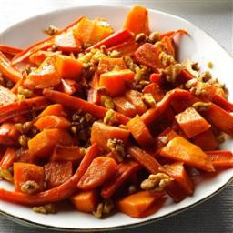 Roasted Squash, Carrots and Walnuts Recipe