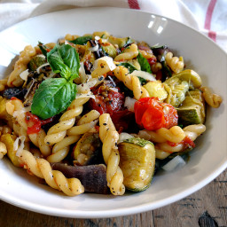 Roasted Summer Vegetable Pasta