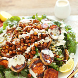 Roasted Sweet Potato and Chickpea Salad