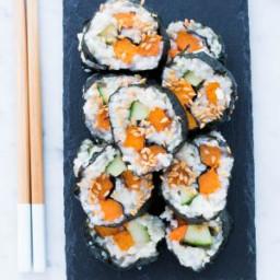 Roasted Sweet Potato Sushi