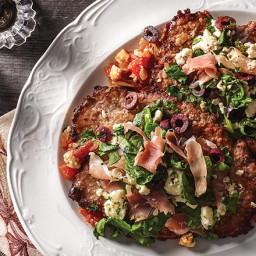 Roasted Tomato and Feta Cubed Steak Sauté