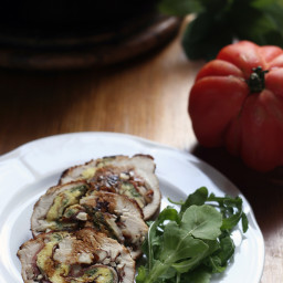Roasted turkey with sage and almonds