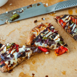 Roasted Vegetable Naan Pizza