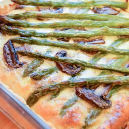Roasted veggies quiche