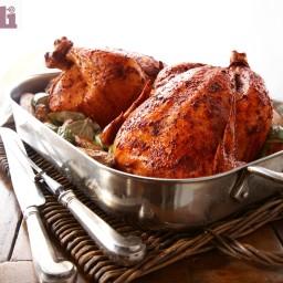 Roasted whole chicken, Oaxacan-style (Pollo abobado y rostizado)