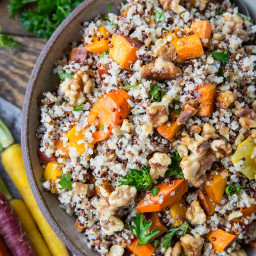 Roasted Winter Vegetable Quinoa Salad