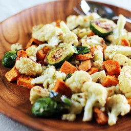 Roasted Winter Vegetables with Miso-Lime Dressing