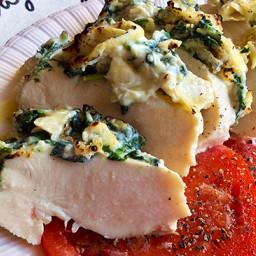 Roasted Artichoke Spinach Chicken