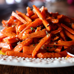Roasted Carrots with Vinaigrette