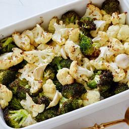 Roasted Cauliflower and Broccoli