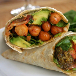 Roasted Chickpea and Broccoli Burrito