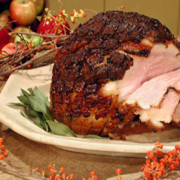 Roasted Fresh Ham with Cider Glaze