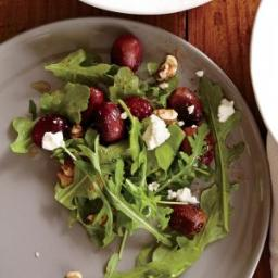 Roasted Grape and Feta Salad