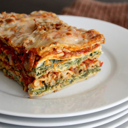 Roasted Vegetable and Spinach Lasagna