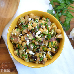 Roasted Vegetable Chickpea Salad