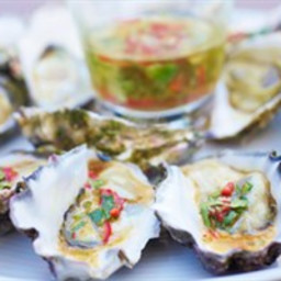 Rock oysters with chilli vinaigrette