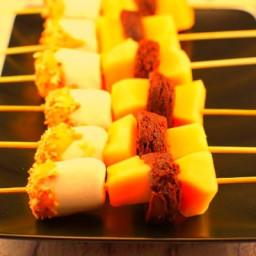 Rocky Road Melon Dessert Skewers
