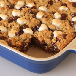 Rocky Road Oatmeal Squares