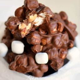 Rocky Road Peanut Clusters
