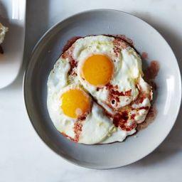 Roger Vergés Fried Eggs with Wine Vinegar