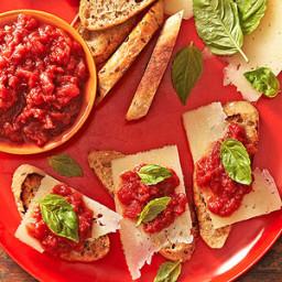 Roma Tomato Jam and Manchego Cheese Bruschetta