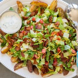 Romaine and Loaded Potato Salad