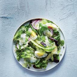 Romaine, Celery, and Parmesan Salad