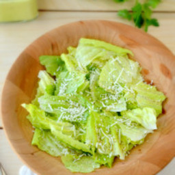 Romaine with Lemon Anchovy Dressing
