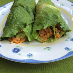 Romaine Wraps with Chickpea Tuna Salad
