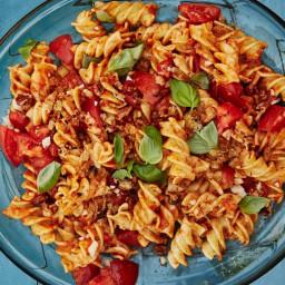 Romesco Pasta Salad with Basil and Parmesan